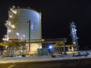 Stabilizator ciśnienia gazu koksowniczego + pochodnia do spalania gazu koksowniczego - 12.2016